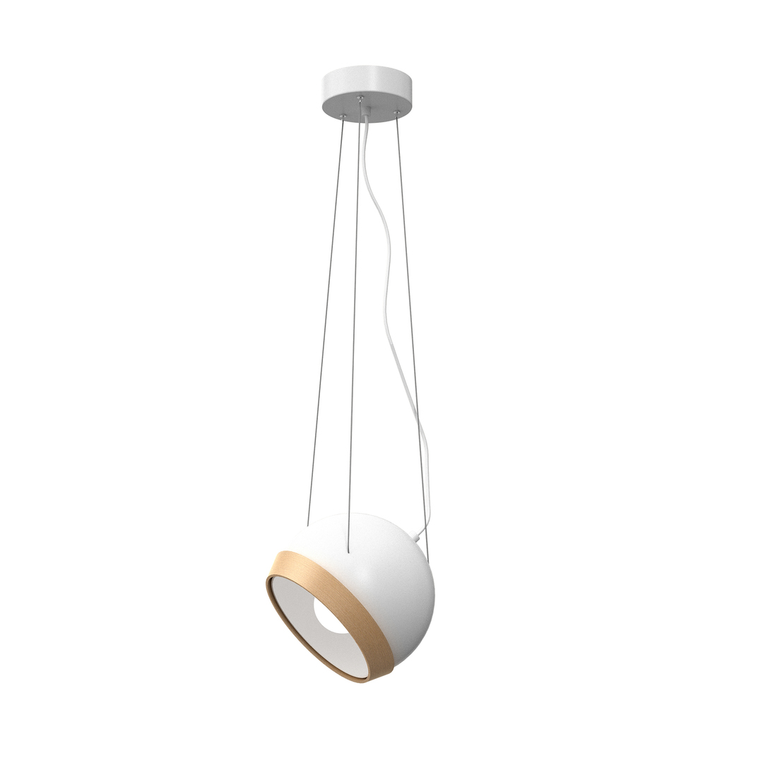 White Oval White 1x E27 Hanging Lamp