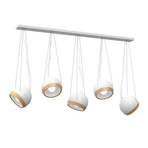 White Oval White Hanging Lamp 5x E27 small 0