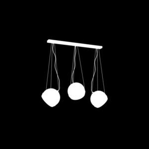 Black Oval Black Pendant Lamp 3x E27 small 2