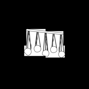 Black Hanging Lamp Oval Black 5x E27 small 2