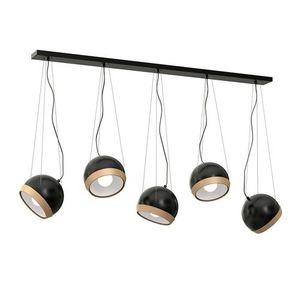 Black Hanging Lamp Oval Black 5x E27 small 0