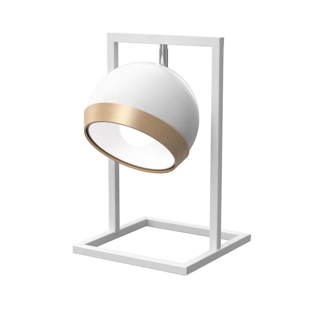 Table Lamp Oval White 1x E27