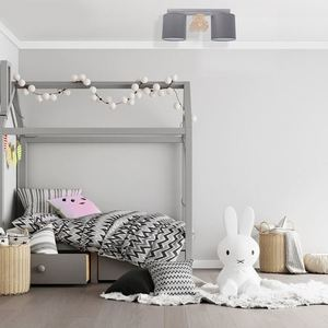 Gray Ceiling Lamp Bear 2x E27 small 7