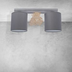 Gray Ceiling Lamp Bear 2x E27 small 8