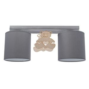 Gray Ceiling Lamp Bear 2x E27 small 0