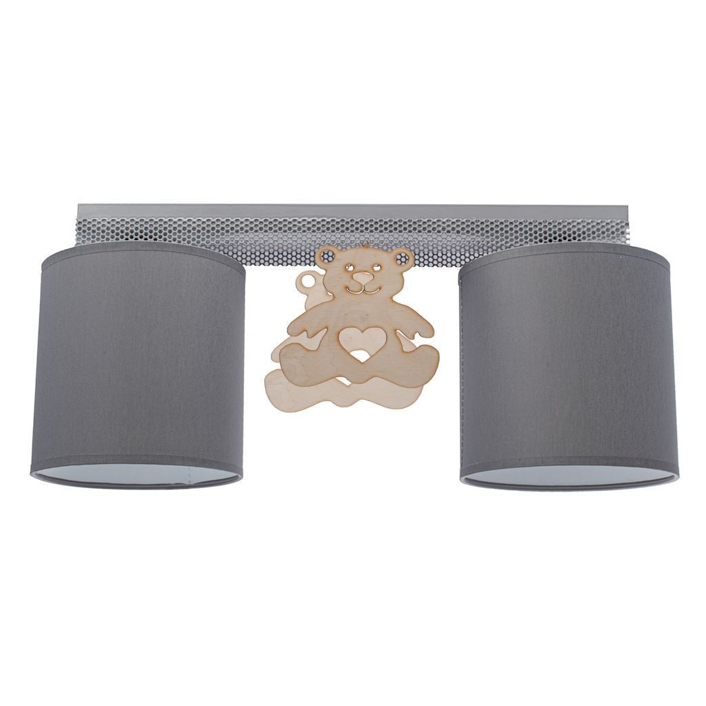 Gray Ceiling Lamp Bear 2x E27