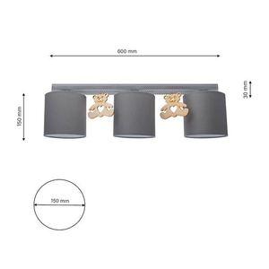 Gray Ceiling Lamp Bear 3x E27 small 8