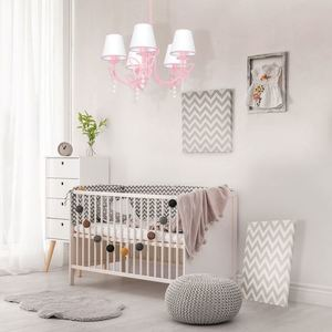 Charlotte Pink Chandelier Pink 5x E14 small 1