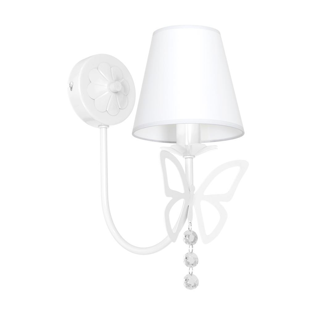 Charlotte White 1x E14 wall lamp