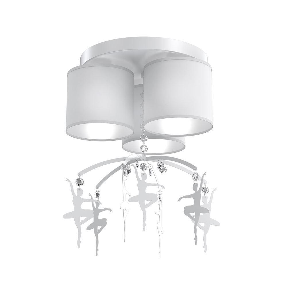 White Ceiling Lamp Balletnica White 3x E27