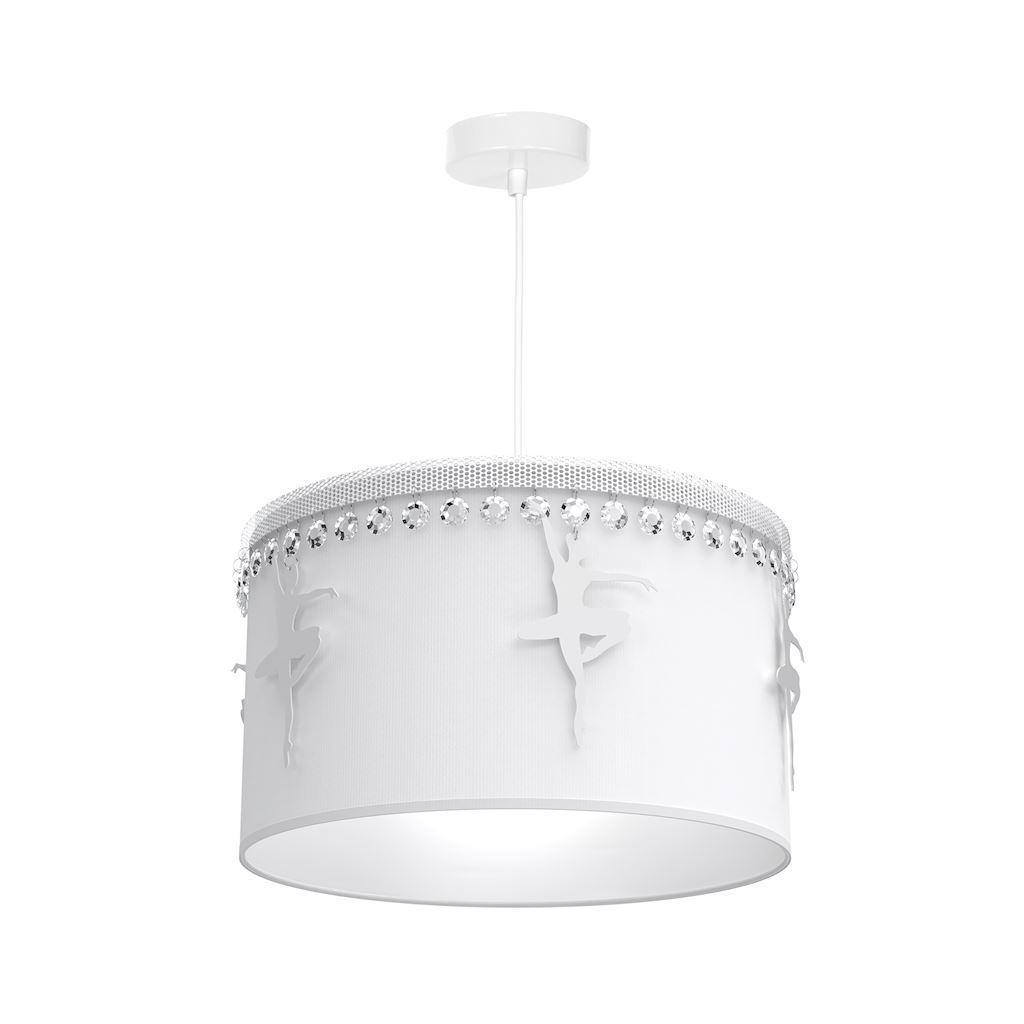 White Hanging Lamp Ballerina White 1x E27