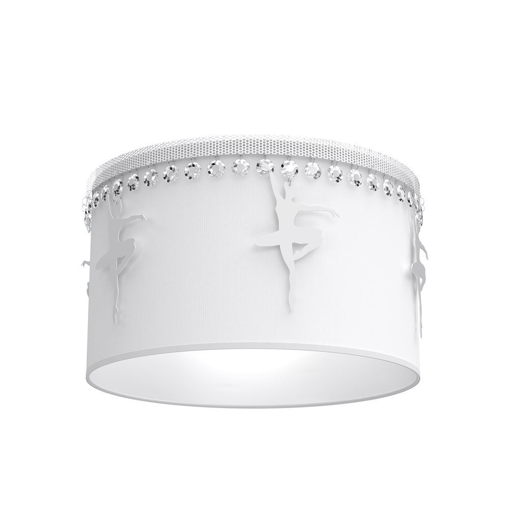 White Ceiling Lamp Balletnica White 1x E27