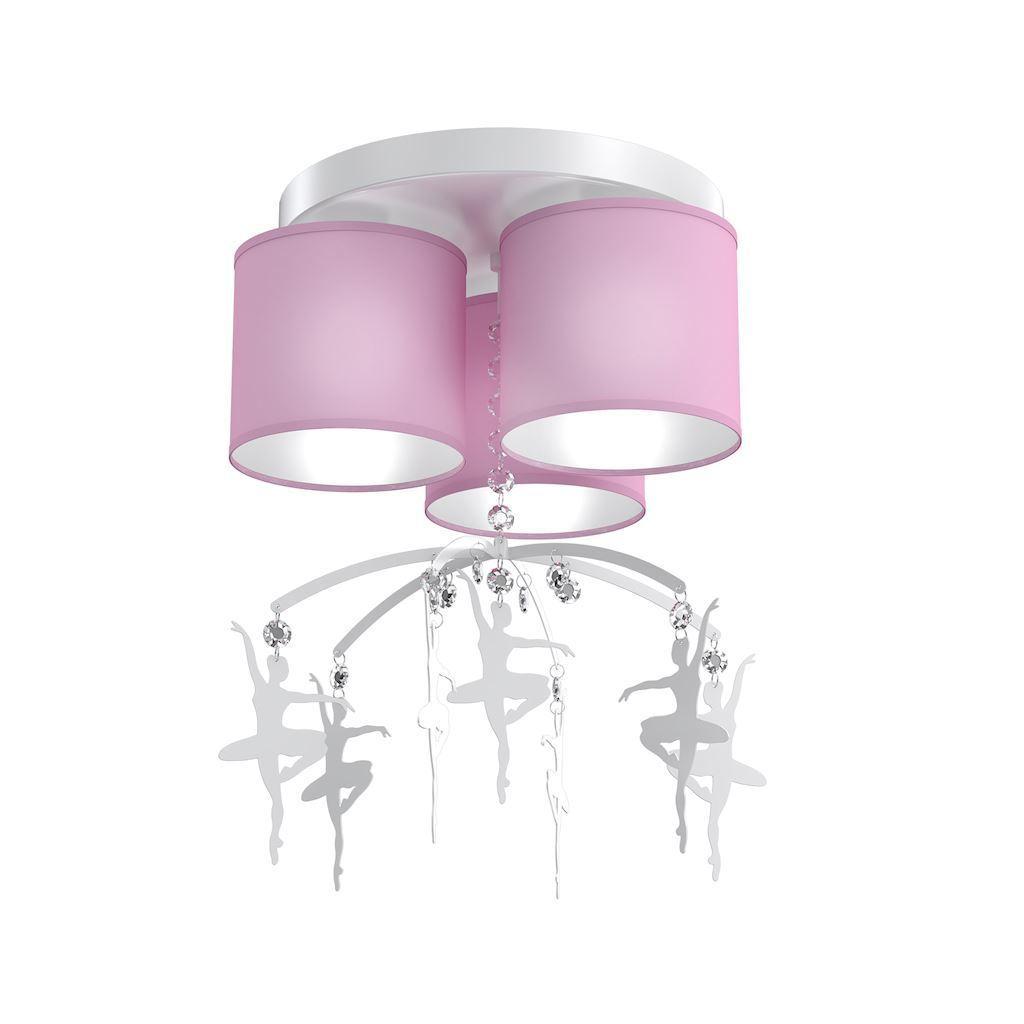 Pink Ceiling Lamp Ballet Dancer 3x E27
