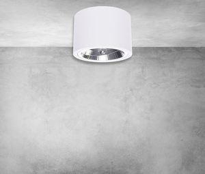 Redondo White 1x Ar111 Gu10 Surface Mounted luminaire small 4