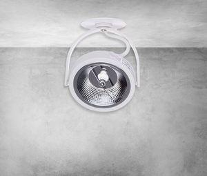 Lugar White 1x Ar111 Gu10 Flush Mount White small 5