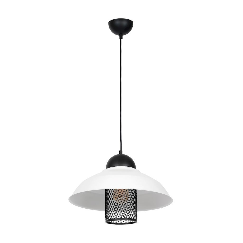 Hanging Lamp Bjorn White 1x E27