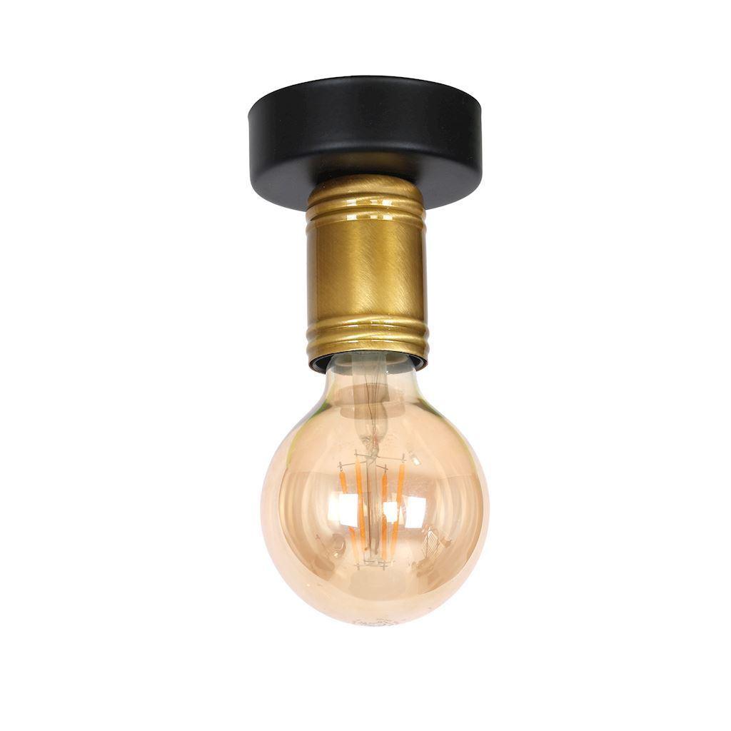 Black 1x E27 Dylan Ceiling Lamp