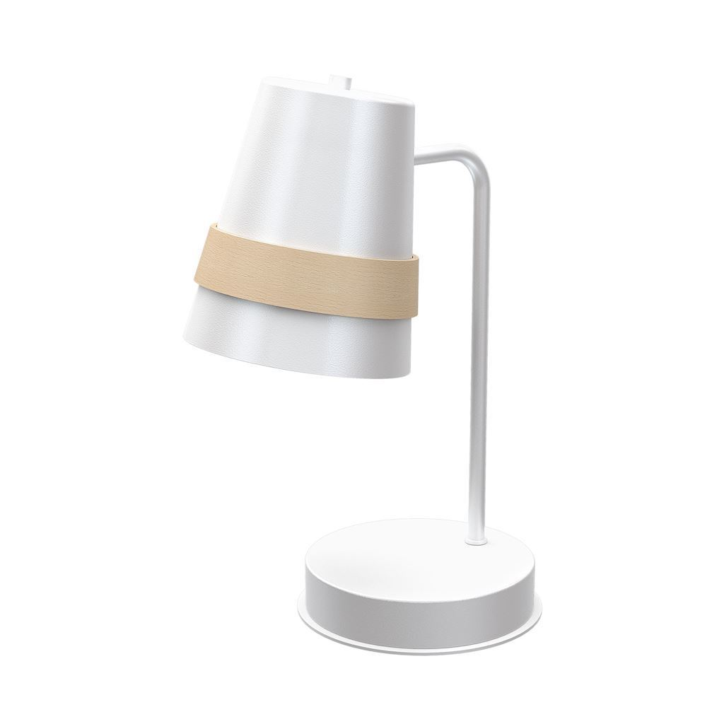 Venezia White 1x E27 White Table Lamp