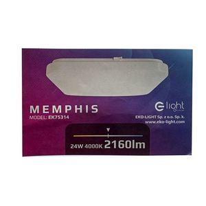White Memphis 24 W LED 4000K Plafond small 4