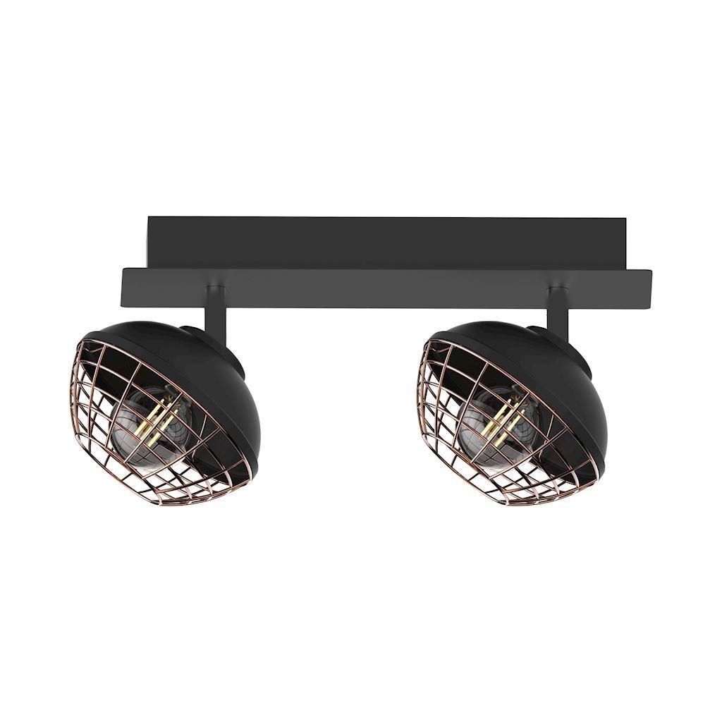 Black Logan 2x E14 Ceiling Lamp