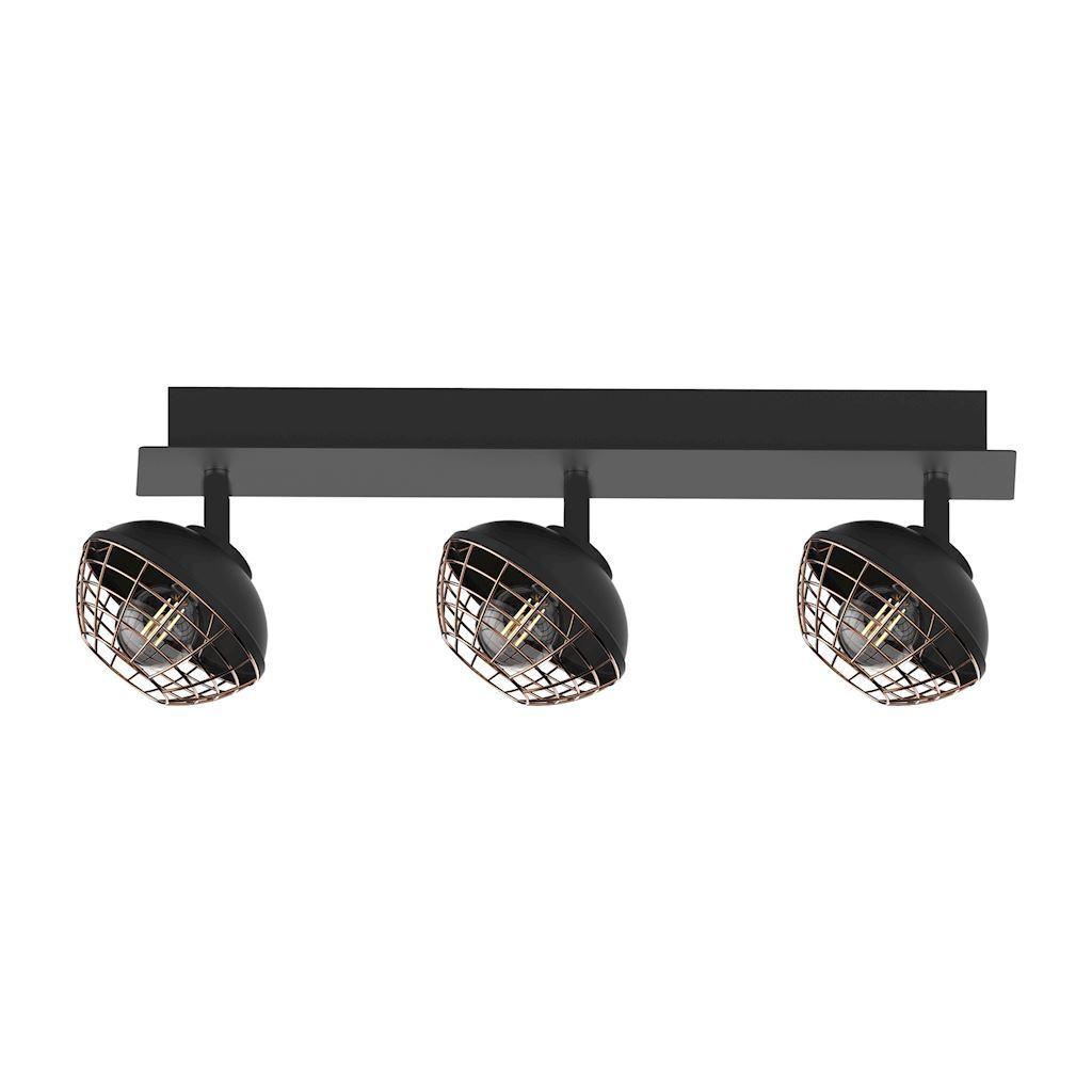Black Ceiling Lamp Logan 3x E14