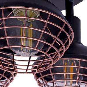 Black Ceiling Lamp Logan 3x E14 small 2