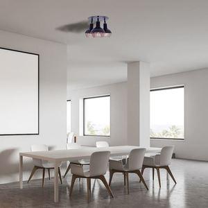 Black Ceiling Lamp Logan 3x E14 small 4