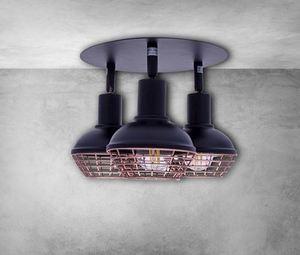 Black Ceiling Lamp Logan 3x E14 small 5