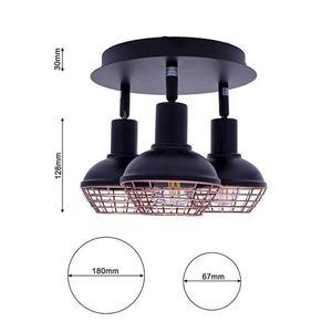 Black Ceiling Lamp Logan 3x E14 small 6
