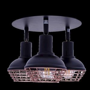 Black Ceiling Lamp Logan 3x E14 small 7
