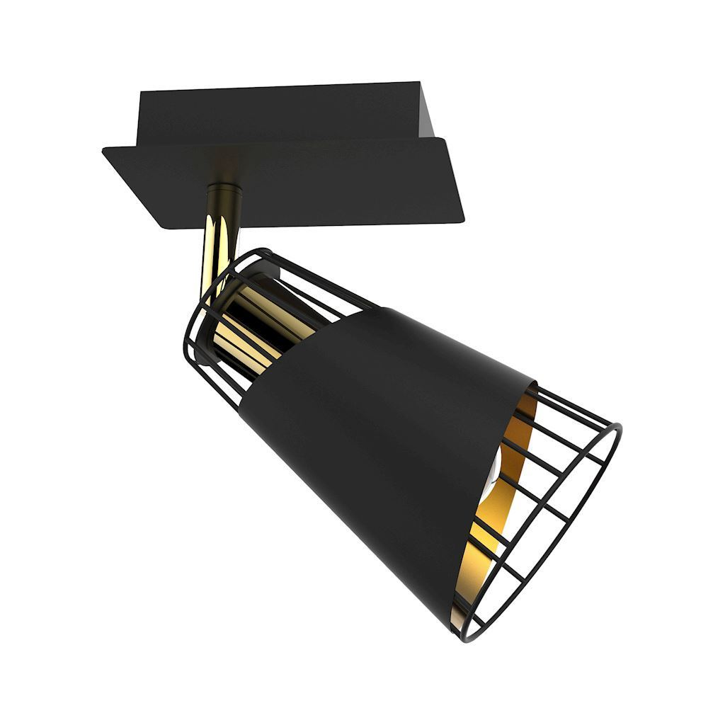 Black Rick 1x E14 wall lamp