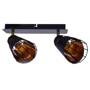 Black Rick 2x E14 Ceiling Lamp small 1