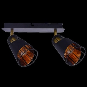Black Rick 2x E14 Ceiling Lamp small 6