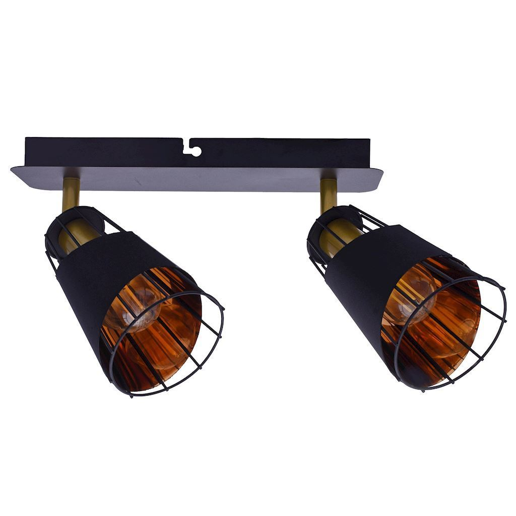 Black Rick 2x E14 Ceiling Lamp