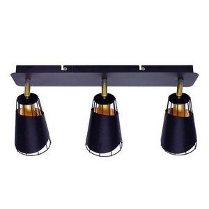 Black Ceiling Lamp Rick 3x E14 small 2
