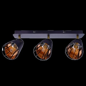 Black Ceiling Lamp Rick 3x E14 small 6