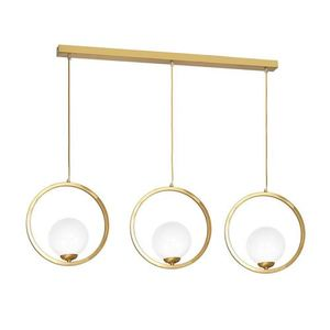Brass Hanging Lamp Vienna 3x E14 small 0