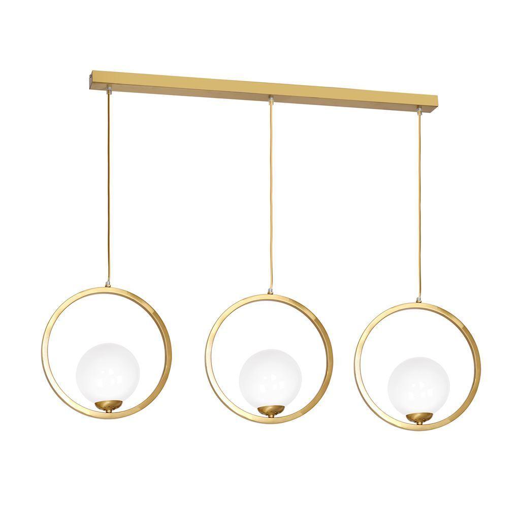 Brass Hanging Lamp Vienna 3x E14