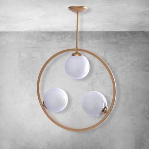 Brass Ceiling Lamp Vienna 3x E14 small 4