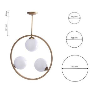 Brass Ceiling Lamp Vienna 3x E14 small 7