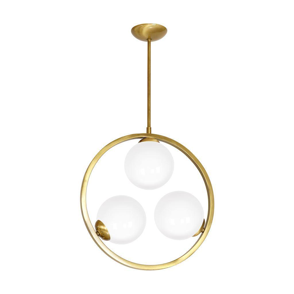 Brass Ceiling Lamp Vienna 3x E14
