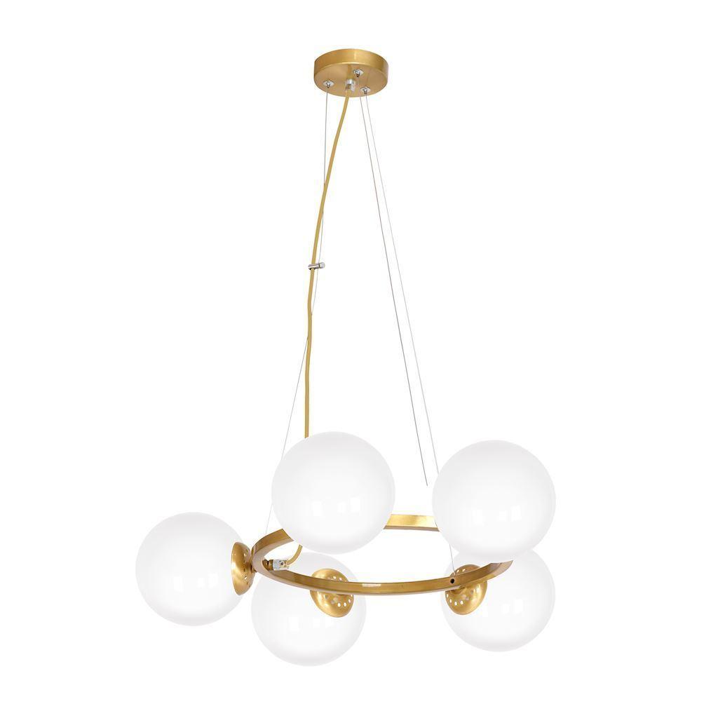 Brass Hanging Lamp Vienna 5x E14