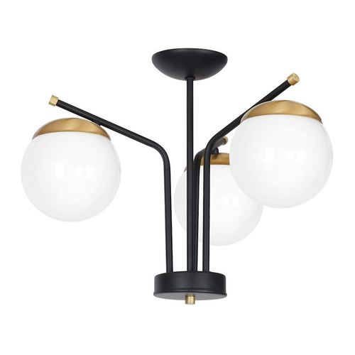 Black Ceiling Lamp Carina 3x E14