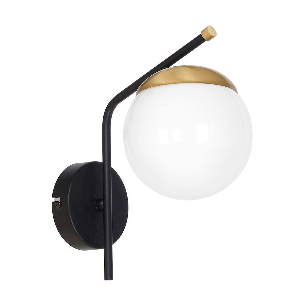 Black Carina 1x E14 wall lamp