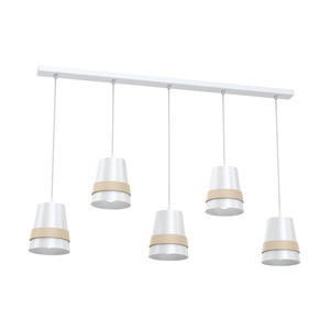 Venezia White Hanging Lamp 5x E27 small 0