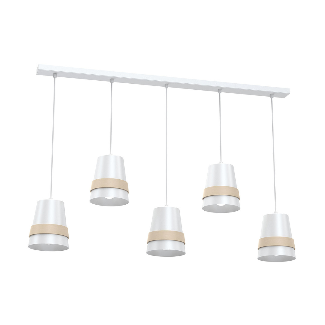 Venezia White Hanging Lamp 5x E27