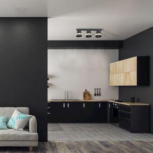 Black Venezia Black Ceiling Lamp 3x E27 small 4