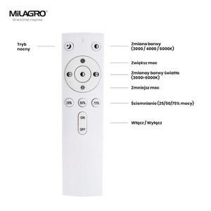 White Filo Ceiling Lamp 30 W Dimmable Led + Remote small 1