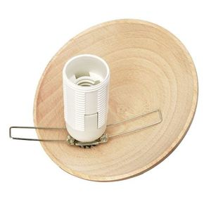Sphere Wood White Lamp 3x E14 small 2