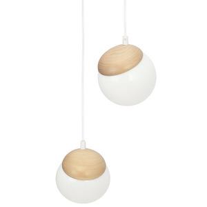 Sphere Wood White Lamp 3x E14 small 4